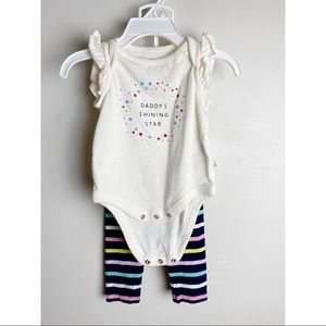 BabyGAP 0-3month 2pc outfit Daddy's Shining Star